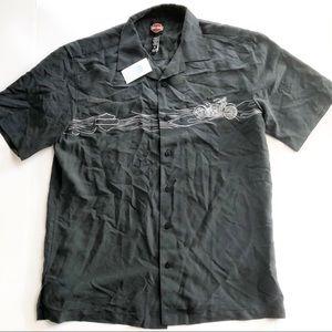 Tori Richard Harley Davidson Hawaiian  Shirt M